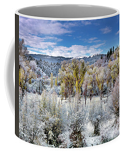 Autumn Frost And Texture Coffee Mug