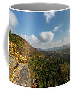 Coffee Mug featuring the photograph Autumn In The Elbe Sandstone Mountains by Andreas Levi