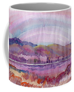 Coffee Mug featuring the painting Autumn Light by Dobrotsvet Art