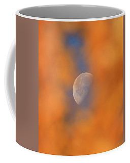 Coffee Mug featuring the photograph Autumn Moon by Dan Sproul