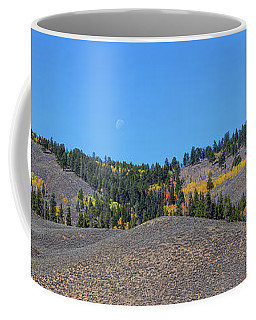 Coffee Mug featuring the photograph Autumn Moon Setting Panoramic View by James BO Insogna