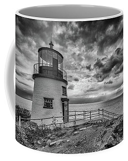Coffee Mug featuring the photograph Autumn Morning At Owls Head Black And White by Rick Berk