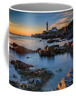 Coffee Mug featuring the photograph Autumn Morning At Portland Head Lighthouse  by Rick Berk