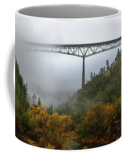 Autumn Morning Bridge Coffee Mug