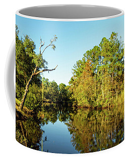 Coffee Mug featuring the photograph Autumn On The Bayou by Kay Brewer