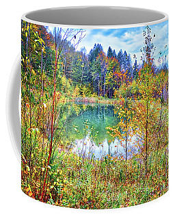 Coffee Mug featuring the photograph Autumn Reflections At The Pond by Lynn Bauer