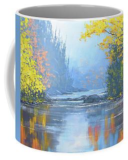 Autumn River Trees Coffee Mug