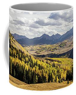 Autumn Season View Of Sneffles Ten Peak Coffee Mug