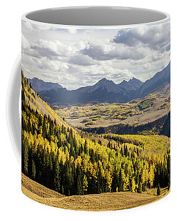 Coffee Mug featuring the photograph Autumn Season View Of Sneffles Ten Peak by James BO Insogna