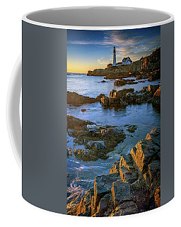 Coffee Mug featuring the photograph Autumn Tranquility At Portland Head by Rick Berk