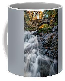 Coffee Mug featuring the photograph Autumn Waterfall In Hallowell by Rick Berk