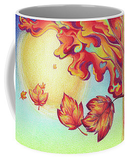 Autumn Wind And Leaves Coffee Mug