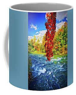 Coffee Mug featuring the photograph Autumn's Flame - Niagara Falls, New York by Lynn Bauer