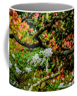 Azaleas Under A Dogwood Tree Coffee Mug