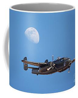 B-25 Bomber And Gibbous Moon Coffee Mug