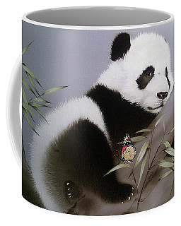 Baby Panda And Butterfly Coffee Mug