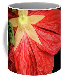 Back Of Red Flower Coffee Mug