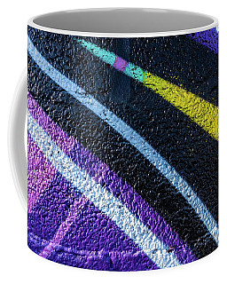 Background With Wall Texture Painted With Colorful Lines. Coffee Mug