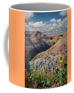 Badlands Sunflower - Vertical Coffee Mug