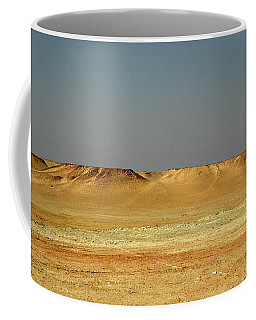 Coffee Mug featuring the photograph Baked Sahara Desert by Mark Duehmig