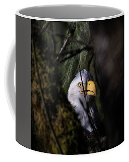 Bald Eagle Behind Tree Coffee Mug