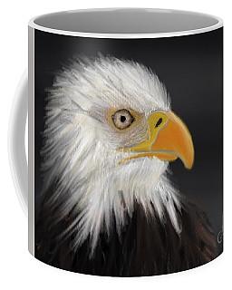 Coffee Mug featuring the pastel Bald Eagle by Fe Jones