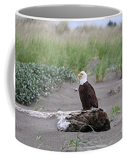 Bald Eagle On Driftwood Coffee Mug