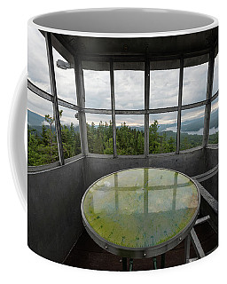 Coffee Mug featuring the photograph Bald Mountain Firetower Ne by Brad Wenskoski