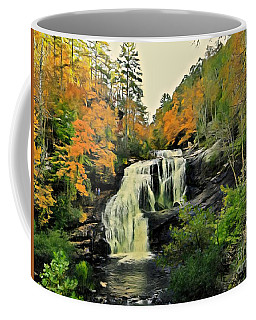 Coffee Mug featuring the photograph Bald River Falls In Autumn  by Rachel Hannah