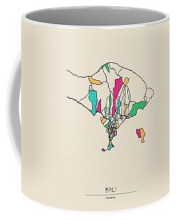 Bali, Indonesia City Map Coffee Mug