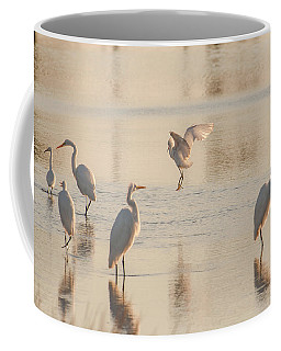 Ballet Of The Egrets Coffee Mug
