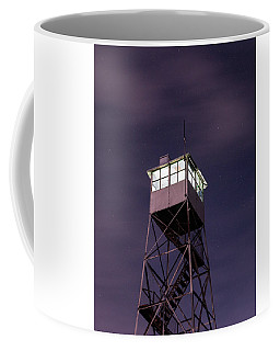 Coffee Mug featuring the photograph Balsam Lake Mountain Firetower  by Brad Wenskoski