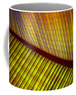 Coffee Mug featuring the photograph Banana Leaf 8603 by Mark Shoolery