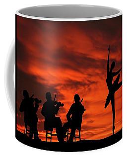 Band Played On Sunset Silhouette Series Coffee Mug