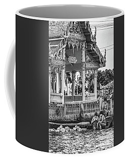 Bangkok Khlong - Daily Life Bw Coffee Mug