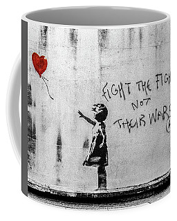 Banksy Balloon Girl Fight The Fighters Coffee Mug