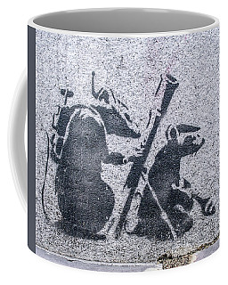 Banksy Bazooka Rats Coffee Mug
