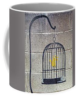 Banksy Bird Cage Detroit Coffee Mug