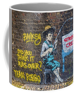 Banksy Boy Fishing Street Cred Coffee Mug