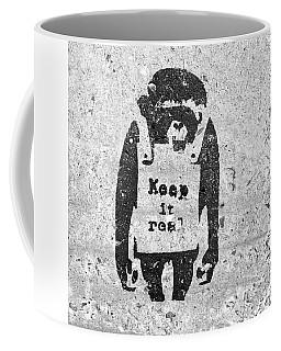 Banksy Chimp Keep It Real Coffee Mug