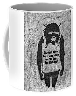 Banksy Chimp Laugh Now Graffiti Coffee Mug
