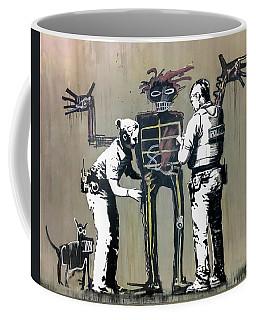 Banksy Coppers Pat Down Coffee Mug