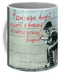 Banksy Diogenes Coffee Mug