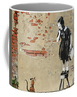 Banksy New Orleans Girl And Mouse Coffee Mug
