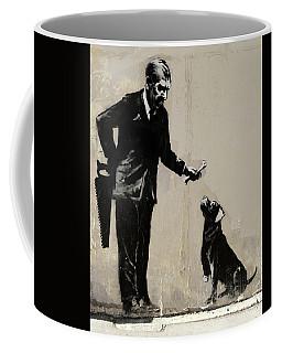 Banksy Paris Man With Bone And Dog Coffee Mug