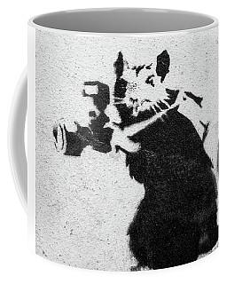 Banksy Rat With Camera Coffee Mug