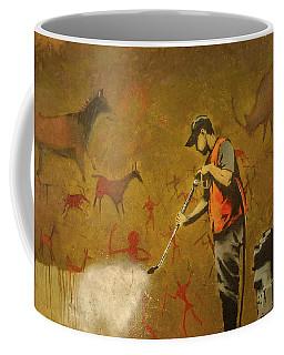 Banksy's Cave Painting Cleaner Coffee Mug