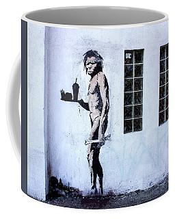 Bansky Fast Food Caveman Los Angeles Coffee Mug