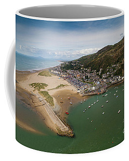 Barmouth Wales From The Air Coffee Mug