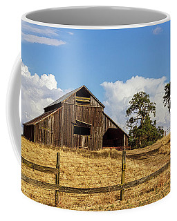 Barn With Fence In Foreground Coffee Mug